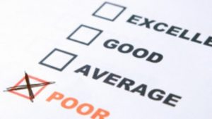 4 check boxes labelled excellent, good, average and poor. poor is ticked - negative reviews can be beneficial for your business if handled properly